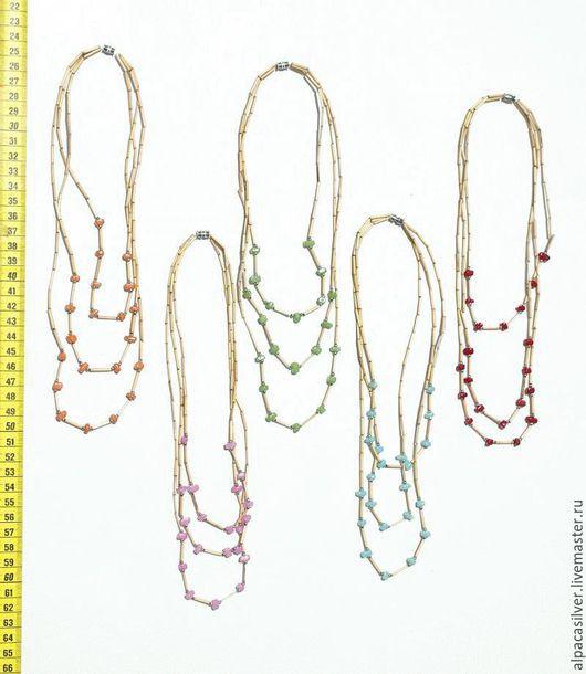 Лариаты ручной работы. Ярмарка Мастеров - ручная работа. Купить Ожерелье из бамбука. Handmade. Ожерелье, бежевый, бамбук, индейский стиль