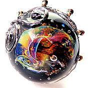 Украшения handmade. Livemaster - original item Ring lampwork Floating above the Atlantean in the technique of lampwork. Handmade.