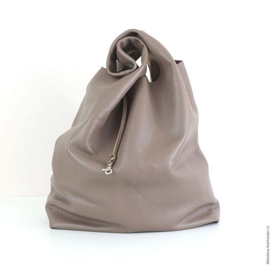 Женские сумки ручной работы. Ярмарка Мастеров - ручная работа. Купить Сумка - Мешок - Пакет - среднего размера. Handmade. Бежевый