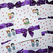 Свадебный салон ручной работы. Ярмарка Мастеров - ручная работа Приглашения Love is..фиолетовый. Handmade.