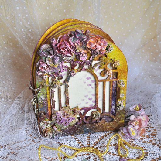 """Фотоальбомы ручной работы. Ярмарка Мастеров - ручная работа. Купить Фотоальбом """"Таинственный сад"""". Handmade. Комбинированный, цветы, ключ"""
