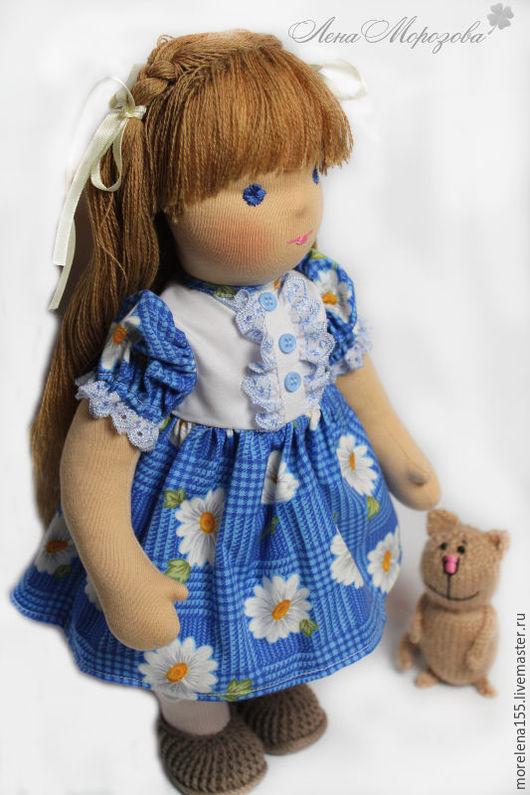 Вальдорфская игрушка ручной работы. Ярмарка Мастеров - ручная работа. Купить Оленька. Handmade. Бежевый, вальдорфские куколки, кукла текстильная