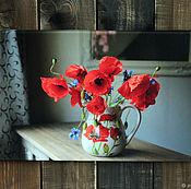 Картины ручной работы. Ярмарка Мастеров - ручная работа Натюрморт с красными маками. Handmade.