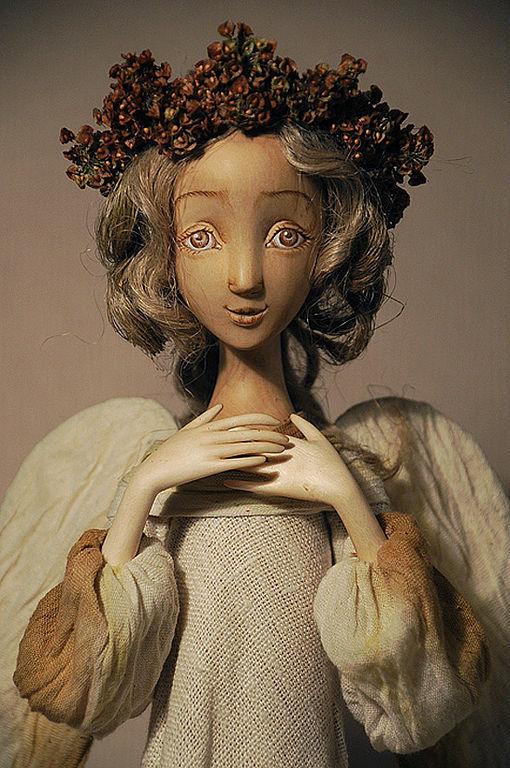 """Сказочные персонажи ручной работы. Ярмарка Мастеров - ручная работа. Купить кукла """"Задумчивый ангел"""". Handmade. Сувенирная кукла"""