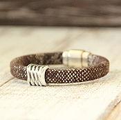 Украшения ручной работы. Ярмарка Мастеров - ручная работа Браслет из кожи. Кожаный браслет Regaliz змея. Handmade.