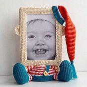 Куклы и игрушки ручной работы. Ярмарка Мастеров - ручная работа Фоторамка Гномик. Handmade.