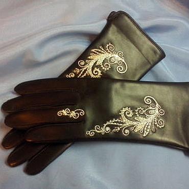 Аксессуары ручной работы. Ярмарка Мастеров - ручная работа Перчатки с ручной вышивкой. Handmade.