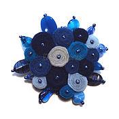 Украшения handmade. Livemaster - original item Brooch Blue lagoon. Handmade.