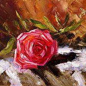 Картины и панно handmade. Livemaster - original item Oil painting rose. Handmade.