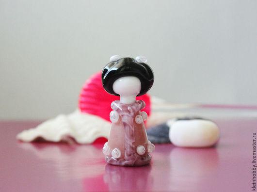 Для украшений ручной работы. Ярмарка Мастеров - ручная работа. Купить Японочка в розовом кимоно. Handmade. Японка, подвеска лэмпворк