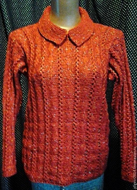 """Кофты и свитера ручной работы. Ярмарка Мастеров - ручная работа. Купить Кофточка """"Огонь искрящийся"""" ручная работа на спицах.. Handmade."""
