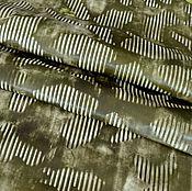 Материалы для творчества handmade. Livemaster - original item Genuine leather 1 mm - Olive. Handmade.