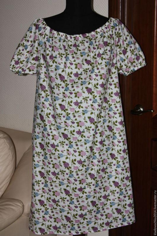 """Платья ручной работы. Ярмарка Мастеров - ручная работа. Купить Маленькое платье """"Сиреневая розочка"""". Handmade. Белый, сиреневый"""