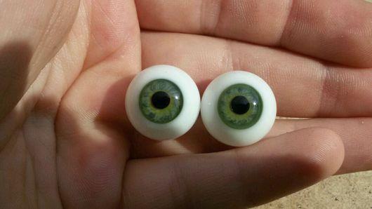 Куклы и игрушки ручной работы. Ярмарка Мастеров - ручная работа. Купить 16 Глаза Лауша. 18 мм. Handmade. Оливковый