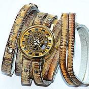 Часы наручные ручной работы. Ярмарка Мастеров - ручная работа Часы скелетоны . Стимпанк. Handmade.