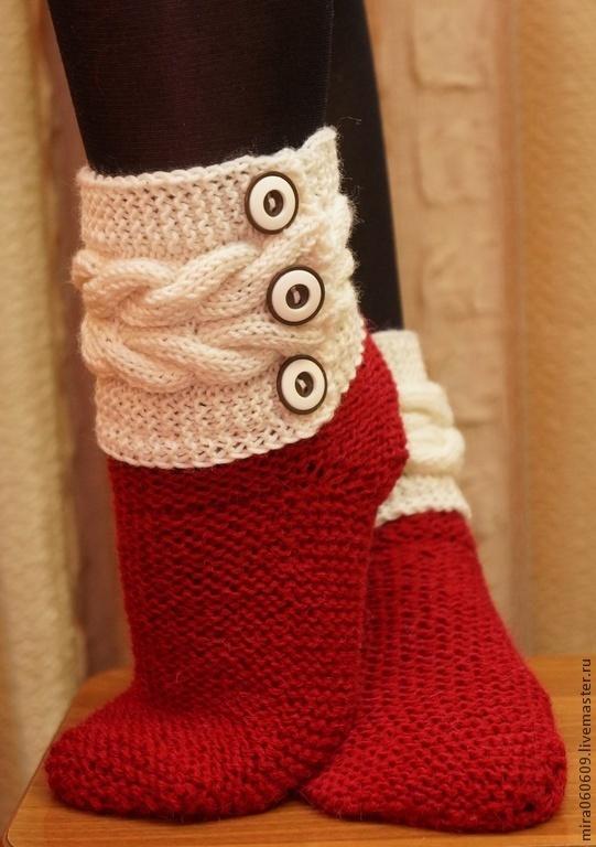 вязание носков спицами Litpoks