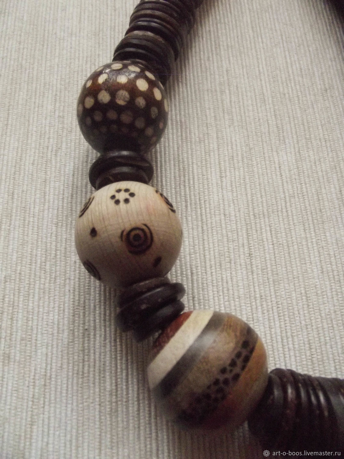 """Necklace """"Orbit"""" of coconut and wood, Necklace, Moscow,  Фото №1"""