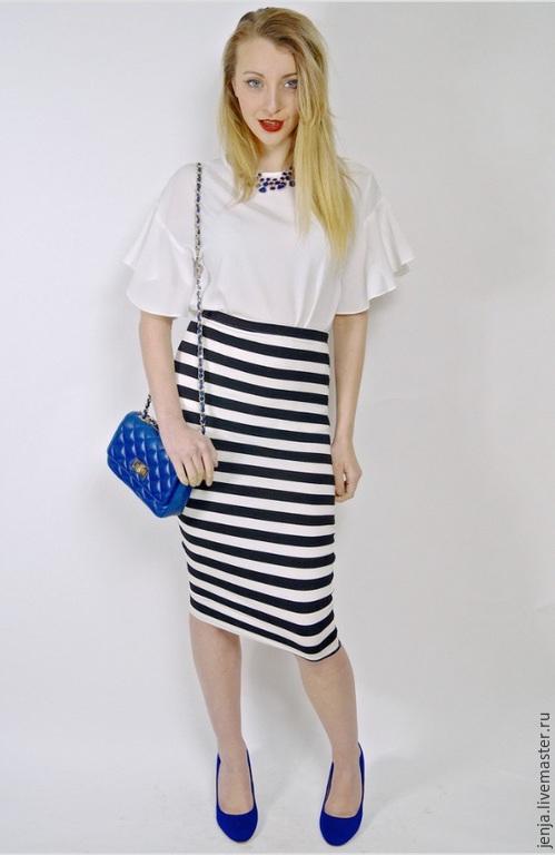 Юбки ручной работы. Ярмарка Мастеров - ручная работа. Купить Stripes in Paris skirt by Candy Cottons. Handmade.
