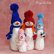 Подарки к праздникам ручной работы. Ярмарка Мастеров - ручная работа Снеговик и его семья. Handmade.
