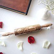 Сувениры и подарки handmade. Livemaster - original item Rolling pin with pattern