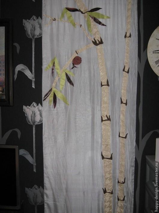 Пейзаж ручной работы. Ярмарка Мастеров - ручная работа. Купить Улитка на ветке бамбука. Handmade. Салатовый, панно на стену