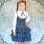 Работы для детей, ручной работы. Ярмарка Мастеров - ручная работа Школьное платье Арт.033. Handmade.