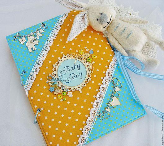 """Блокноты ручной работы. Ярмарка Мастеров - ручная работа. Купить Книга для маминых заметок """"Baby Boy"""". Handmade. подарок"""