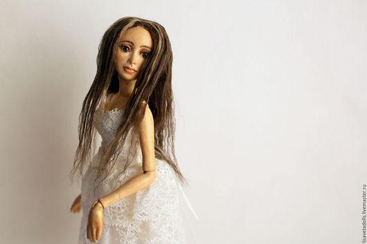 Коллекционные куклы ручной работы. Ярмарка Мастеров - ручная работа. Купить Шарнирная кукла Милана. Handmade. Бежевый, подарок, керамика