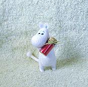 Куклы и игрушки ручной работы. Ярмарка Мастеров - ручная работа игрушка валяная из натуральной шерсти Муми-тролль. Handmade.