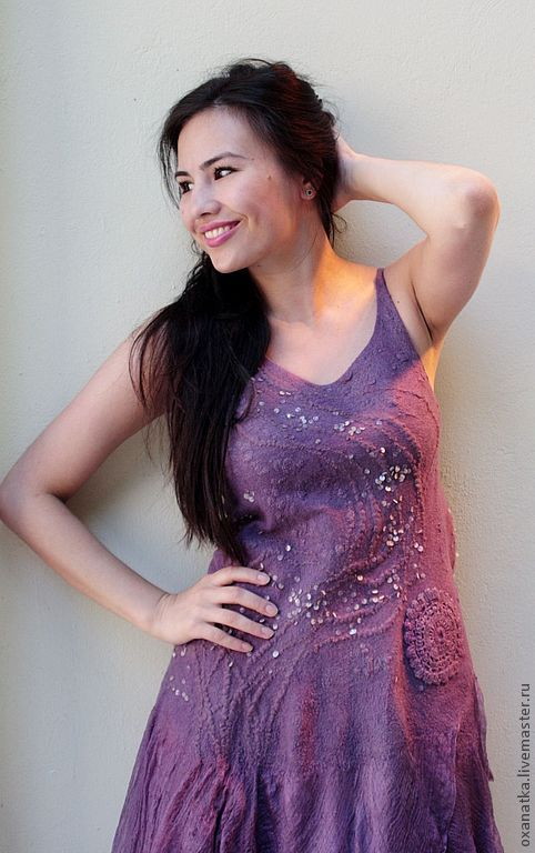 Felted Tunic Persian Lilac, Dresses, Moscow, Фото №1