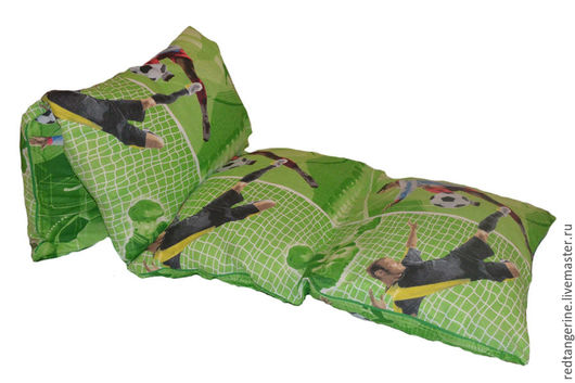 Текстиль, ковры ручной работы. Ярмарка Мастеров - ручная работа. Купить Матрас из подушек. Handmade. Зеленый, матрас, хлопок 100%