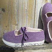 Обувь ручной работы. Ярмарка Мастеров - ручная работа Туфли валяные Лаванда. Handmade.