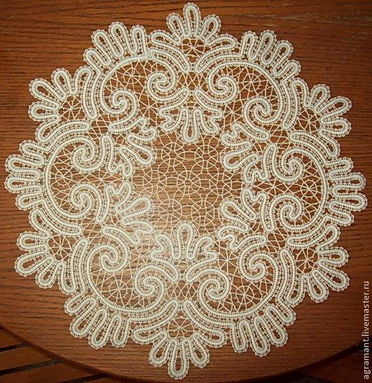 Текстиль, ковры ручной работы. Ярмарка Мастеров - ручная работа. Купить Салфетка  д.46 Вологодское кружево. Handmade.