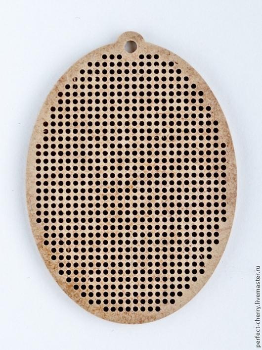 """Вышивка ручной работы. Ярмарка Мастеров - ручная работа. Купить Основа для вышивания """"Овал с петлей"""". Handmade. Бежевый, вышивка, двп"""