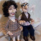 """Куклы и пупсы ручной работы. Ярмарка Мастеров - ручная работа Семейная пара """"Абрам да Сара"""". Handmade."""
