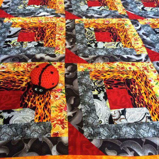 Текстиль, ковры ручной работы. Ярмарка Мастеров - ручная работа. Купить Лоскутное одеяло Лесной  костер. Handmade. Лоскутное, звезды