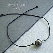 Веревочный браслет-амулет с гематитом