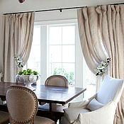 Для дома и интерьера handmade. Livemaster - original item The curtains in the house of linen caught Zara. Handmade.