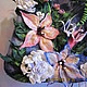 Handbags handmade. Order Bag 'Summer bouquet'. Elegant felt from TriKoN. Livemaster. Dark blue
