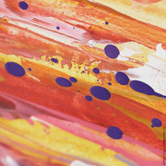 Абстракция ручной работы. Ярмарка Мастеров - ручная работа. Купить LineTime #11. Абстрактная картина. Абстрактная живопись. Handmade. Рыжий
