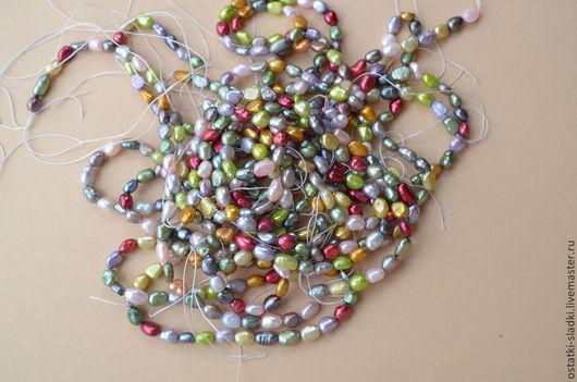 """Для украшений ручной работы. Ярмарка Мастеров - ручная работа. Купить Жемчуг нить, мультиколор, """"рис"""" (87). Handmade. Разноцветный"""