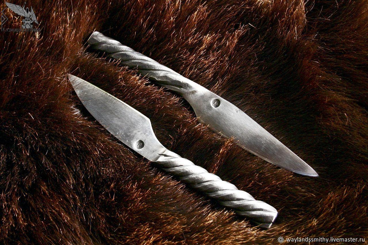 Нож с кованой витой рукоятью, Утварь, Москва,  Фото №1