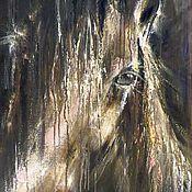 Картины ручной работы. Ярмарка Мастеров - ручная работа Картина маслом на холсте По ту сторону Дождя. Handmade.