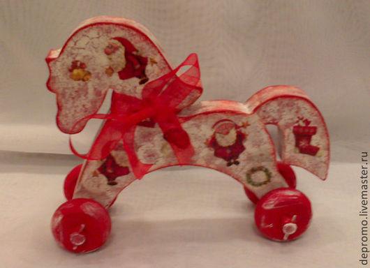 Новый год 2017 ручной работы. Ярмарка Мастеров - ручная работа. Купить Лошадка в красном. Handmade. Лошадка, лошади, лошадь сувенир