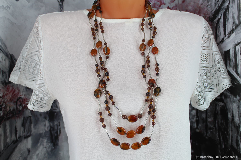 Long three-row beads 'Cascade', Beads2, Velikiy Novgorod,  Фото №1