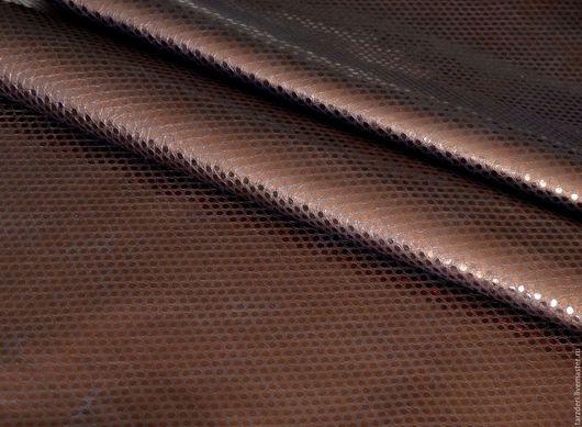 Шитье ручной работы. Ярмарка Мастеров - ручная работа. Купить Итальянская натуральная кожа 1,1 мм - Темная бронза. Handmade.