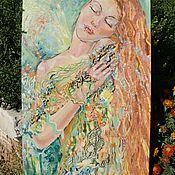"""Картины ручной работы. Ярмарка Мастеров - ручная работа Картина маслом """"Весна """" на оргалите. Handmade."""