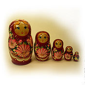 Русский стиль handmade. Livemaster - original item Matryoshka 5 local Floral small 8. Handmade.