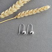 Earrings handmade. Livemaster - original item Earrings balls silver. Handmade.