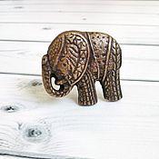 Для дома и интерьера ручной работы. Ярмарка Мастеров - ручная работа Мебельная ручка металлический слон. Handmade.